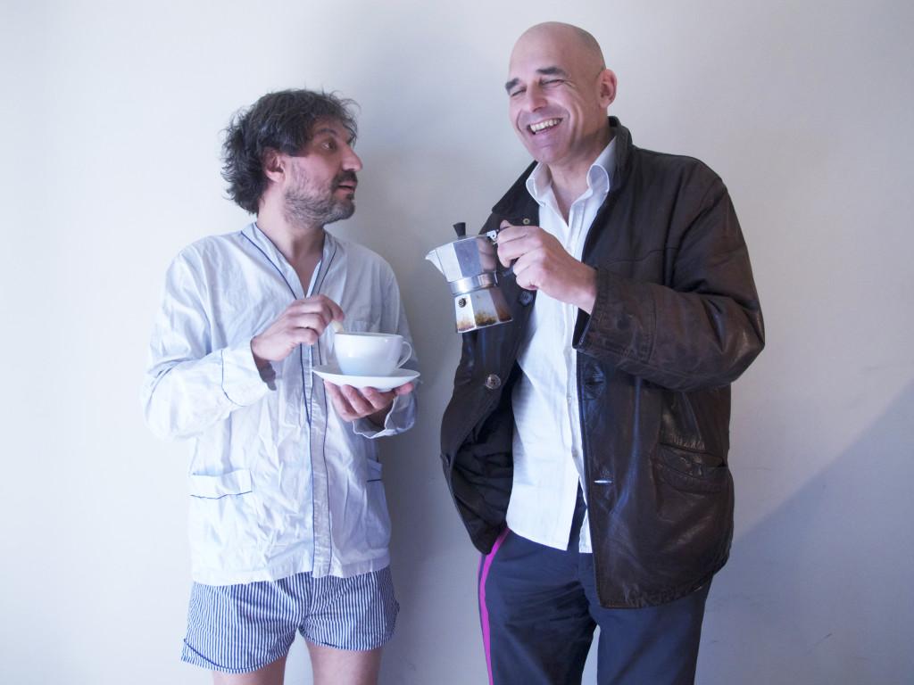 Walter Leonardi, Flavio Pirini caffettiera- foto P.Conti